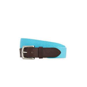 Vineyard Vines Bungee Cord Leather Belt Blue